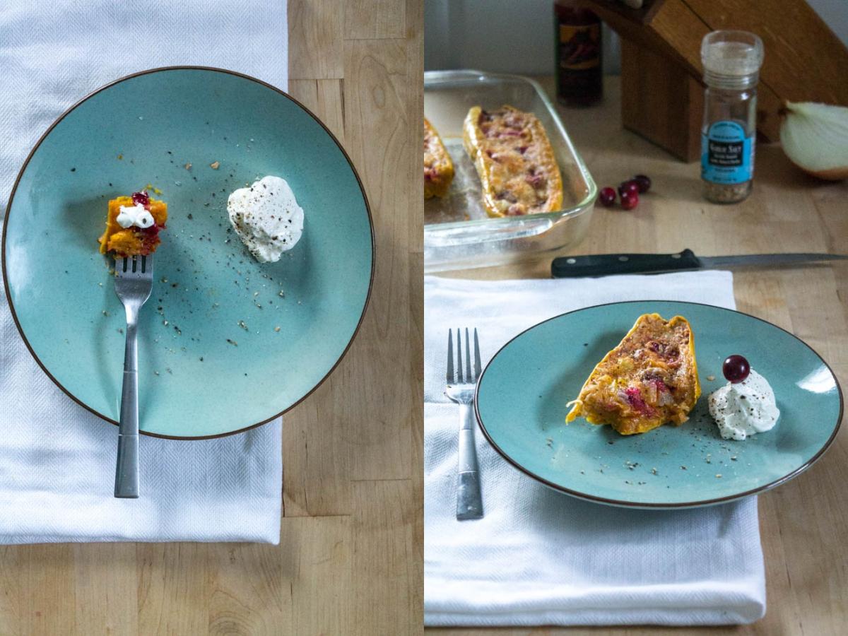 spaghettik rbis gef llt mit frischen cranberries zwiebeln und cheddar. Black Bedroom Furniture Sets. Home Design Ideas