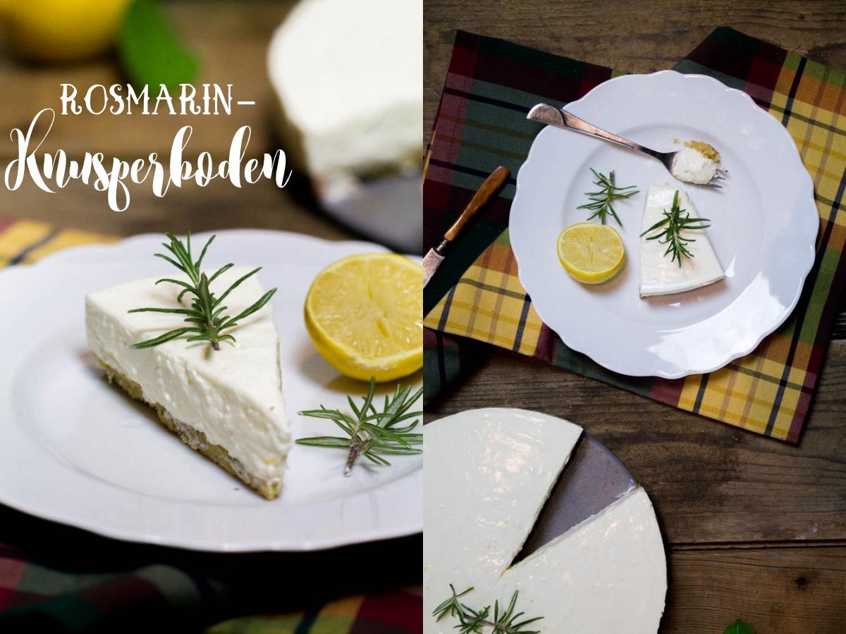 zitroniger joghurt cheesecake mit rosmarin knusperboden frisch fruchtig und low carb. Black Bedroom Furniture Sets. Home Design Ideas